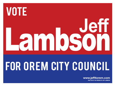 Jeff Lambson for Orem City